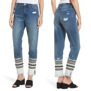BLANKNYC Miss Molly Embellished Straight Leg Denim